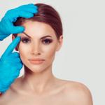 image of woman preparing for eye lift
